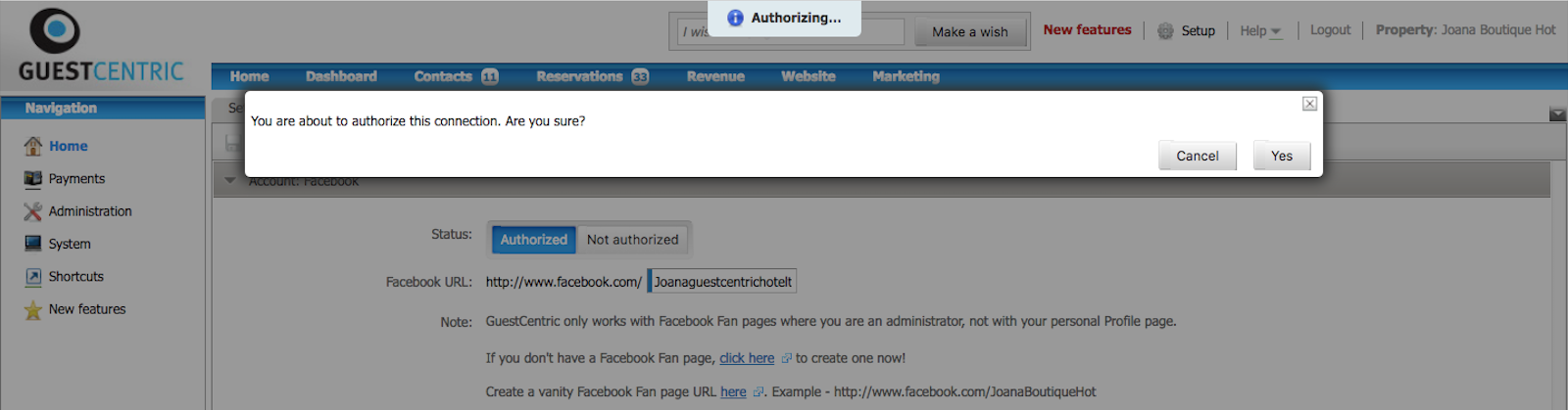How Can I Activate My Website On Facebook Guestcentric Support Page
