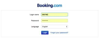 extranet booking login